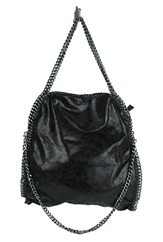 borsa-da-donna-tre-catene-stella-inspired-ecopelle-nero