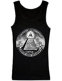 Dollar Pyramid Sign New World Order Illuminati Camiseta sin Mangas para Mujer