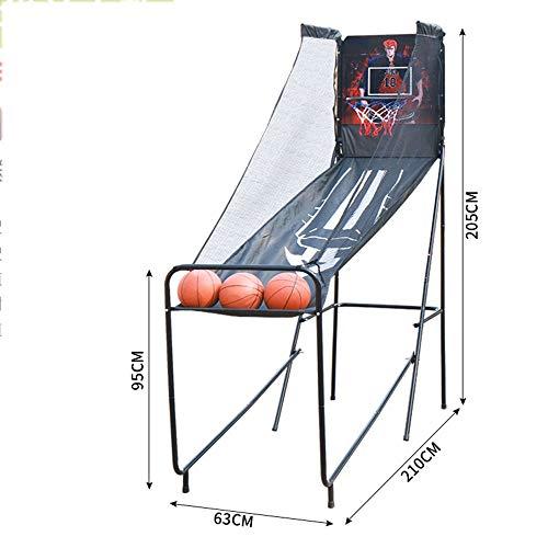 XINGLIAN Kinder Tragbar Basketball-Ständer Draussen Basketballkorb-Netzsystem Mit Basketball Innen Elektronische Schießmaschine Kinderbasketball-Übung (Size : A)