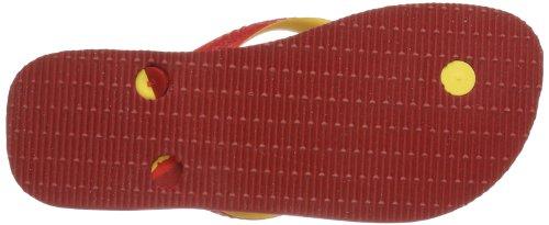 Havaianas Teams II white/black/red H4130533-3859 Unisex-Erwachsene Zehentrenner Rot 1440