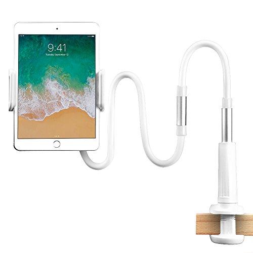 StillCool iPad Ständer Ipad Halter Tablet Halterung Ständer Einstellbare Halter Desktop-Ständer Halter Sofa Bett Tablet Ständer für IPad iPhone Samsung Galaxy Tab (Weiß-1)