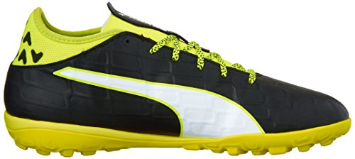 Puma EvoTouch 3 TT Cuir Baskets black-white-safety yellow