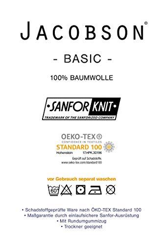 Jacobson Jersey Spannbettlaken Spannbetttuch Baumwolle Bettlaken (90×200-100×200 cm, Orange) - 4