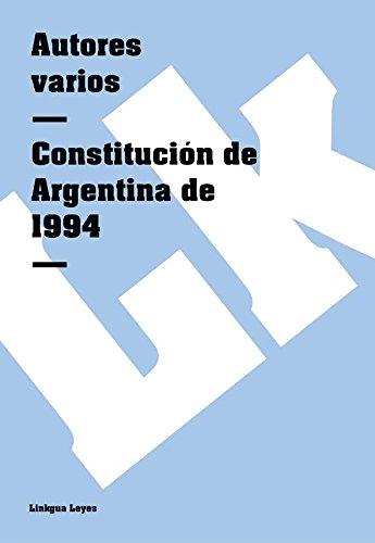 Constitución de Argentina de 1994 (Leyes)