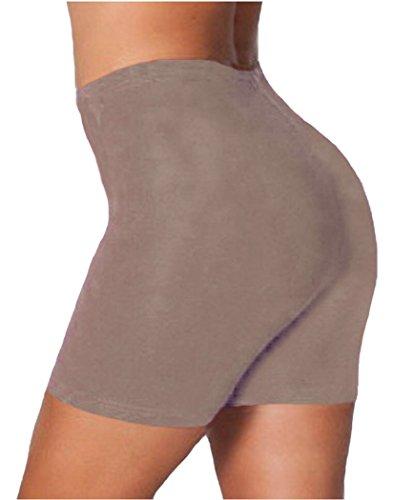 Mesdames Femmes Active Sports Casual Short de cyclisme en coton pour femme plus Taille Moka