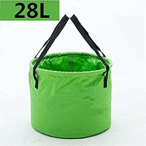 Holzsammlung 28L Foldable Bucket Collapsible Water Carrier Container Bag For Camping, Hiking, Travel