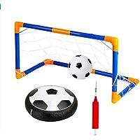 Mengonee La luz LED de bolas intermitente juguetes Air Power Balones de fútbol multi-superficie de cernido de fútbol con el balón de fútbol Puerta inflable