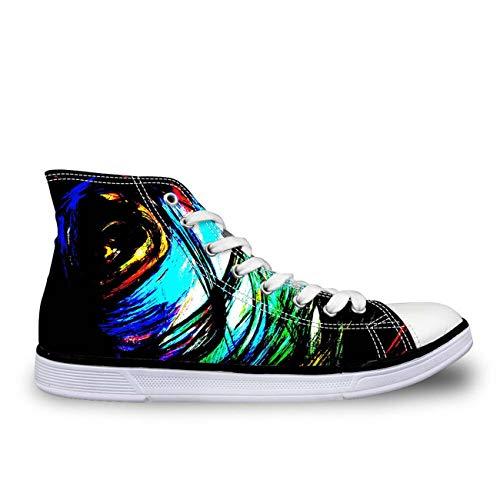 Womens Females Canvas Shoes High-Top Designer Girls Walking Sneakers Pumps New CC2097AK Women's US 10 \u002F UK 8 \u002F EU 40