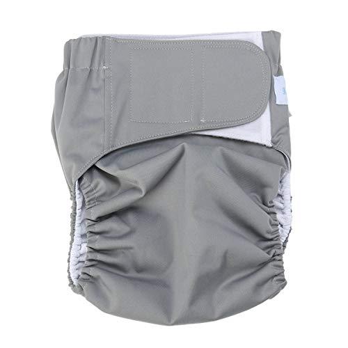 SUPVOX Pannoloni per anziani adulti lavabili mutande per incontinenza anziani riutilizzabile Regolabile M (grigio)