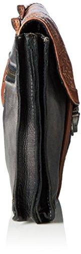 Taschendieb - TD0754, Borsa a tracolla Donna Multicolore (Mehrfarbig (stone/grau))