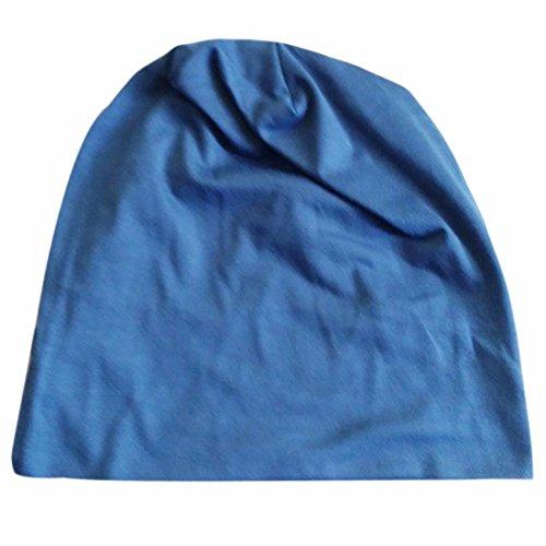 Caps Bonnet bonbons couleur Hip-Hop Rock Hommes Boy Ski Bleu fonce
