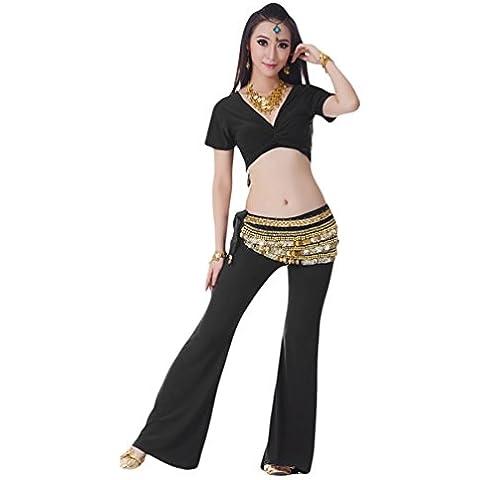 YiJee Danza del Vientre Trajes de Mujeres Rendimiento Top y Pantalones