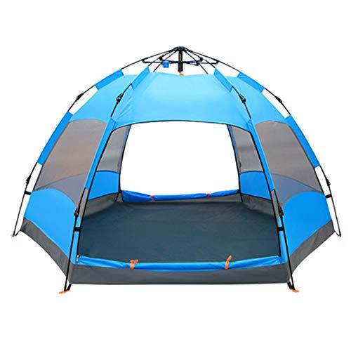 Zelt Outdoor-Zelt Faltzelt Strandzelt Baldachin Zelt wachsen Zelt Campingzelt,Blue - Wachsen Zelt 3x4