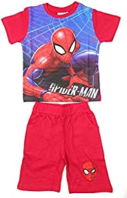 Spíderman Pijama Marvel Verano para Niños - Conjunto Marvel Algodón Camiseta y Pantalón Corto