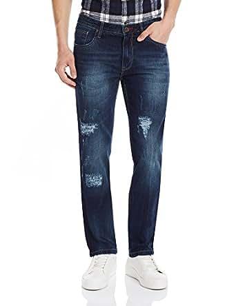 Indigo Nation Men's Casual Trousers (8907372384672_13T01781_34W x 32L_Blue)