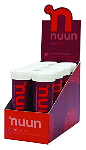 Nuun Aktive Hydration - Tri-Berry, 12-Tabs In Tubes (Packung mit 8)