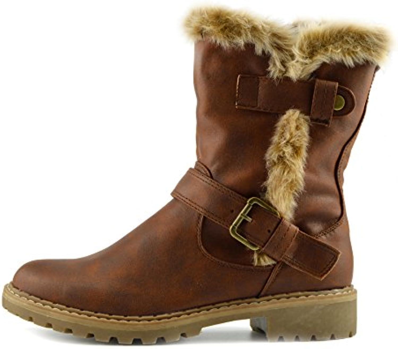1412b79b694 Kick Faux Footwear Womens Kick Winter Walk Faux Suede Comfort Warm ...