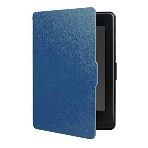 Inateck Funda Kindle Paperwhite de piel sintética–Carcasa todo nuevo Kindle Paperwhite 20156pulgadas en color azul