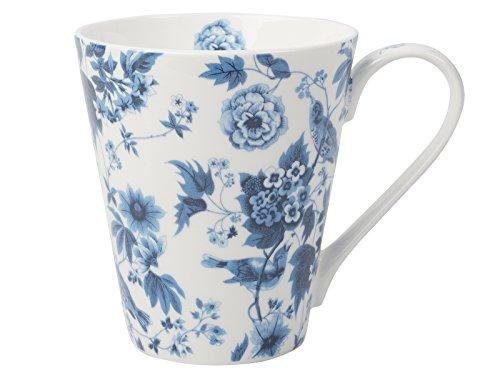 Creative Tops Tasse conique en porcelaine anglaise Motif oiseaux Blanc