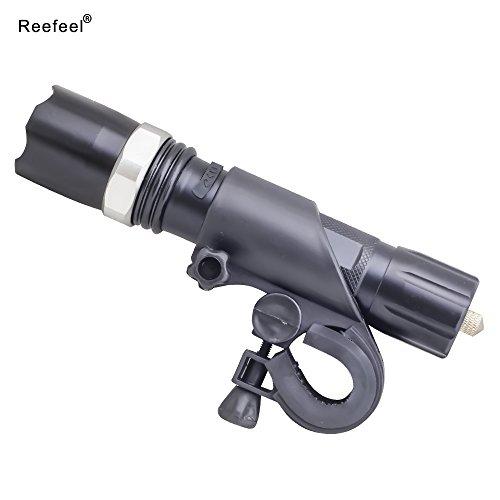 Preisvergleich Produktbild 1x Reefeel® CREE LED Fahrradbeleuchtung Vorderlicht, Super-helle Radfahren Mountainbike-Licht, Hochleistung CREE LED Fahrradlicht mit Doppel Nutzungen als Sicherheits-Not-Taschenlampe