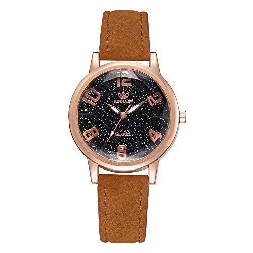 IG Invictus Temperament Lady Irregular Spiegel Leder Belt Analog Quartz Uhr RINNAGY Ms. Irregular Mirror Belt Watch Analoge Uhr Kaffee