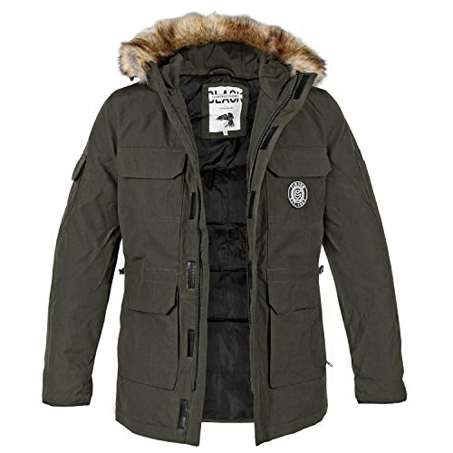 Poolman Winter Parka Patch gefüttert Oliv - S