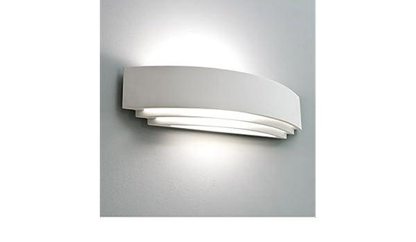 Futur print applique in gesso con lampadina led w e fsl