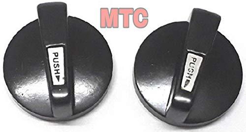 BHATI MTC Plastic Gas Stove Knobs for Prestige, Pigeon, Usha, Bajaj, Ganga, Butterfly (10 Oz, Black)