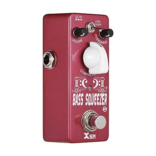 Festnight Gitarren Effektpedal, Bass Kompressor Effektpedal mit Volume Overdrive-Komprimierungssteuerung True Bypass