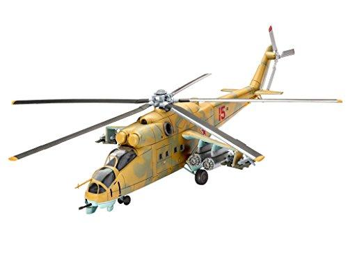 Revell Modellbausatz Flugzeug 1:100 - Mil Mi-24D Hind im Maßstab 1:100, Level 3, originalgetreue Nachbildung mit vielen Details, , Model Set mit Basiszubehör, 64951