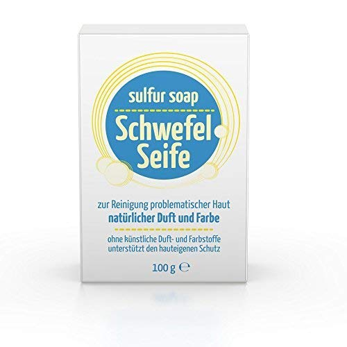 Sulphur Soap Schwefel Seife - Premium 10% Sulfur Advanced Wash by Braunfels Labs blackhead Pickel -