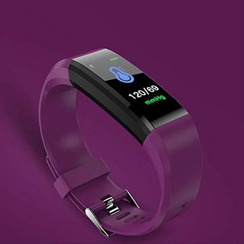 hzznshbfzh Smartwatch,Relojes Inteligentes, Smart Band 115 Plus Monitor De Sueño Fitness Frecuencia Cardíaca Pulsera Inteligente Pantalla A Color Presión Arterial púrpura