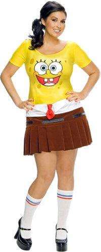 Sponge Bob Damen Kostüm, Größe:XL