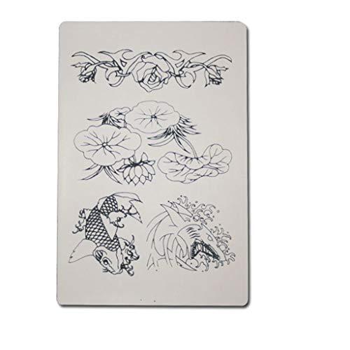 Tätowierung-Praxis-Haut-Kunstleder-Stickerei 30 * 20cm Muster-Muster-Ausrüstung 3 Stücke -