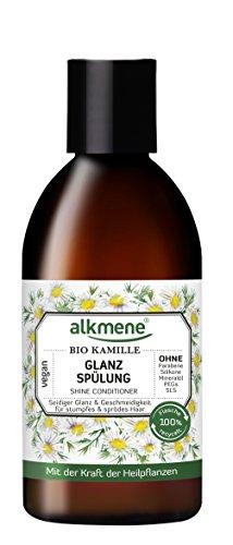 alkmene Glanz Spülung mit Bio Kamille, für stumpfes und sprödes Haar, 250 ml - 2er Pack (2 x 250 ml)