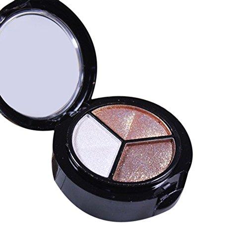 VRTUR Fumé Cosmetic Set 3 Couleurs De Fard à PaupièRes Maquillage Professionnel Nacré Naturel