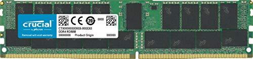 Crucial 32GB CT32G4RFD4293 (DDR4, 2933 MT/s, PC4-23400, CL21, Dual Rank x4, ECC, Registrierter, DIMM, 288-Pin) Serverspeicher -