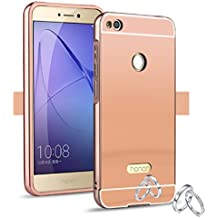 "Funda Espejo Aluminio Metal Carcasa para Huawei P8 Lite 2017 5.2"" Color Rosado"