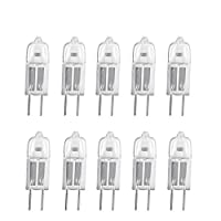 Osram Capsule Lamp Halogen Bulb 12V 20W Warm White Bi-Pin G4 for Accent Lights, Under Cabinet Puck Lamp, Chandeliers, Track Lighting (Pack of 10)