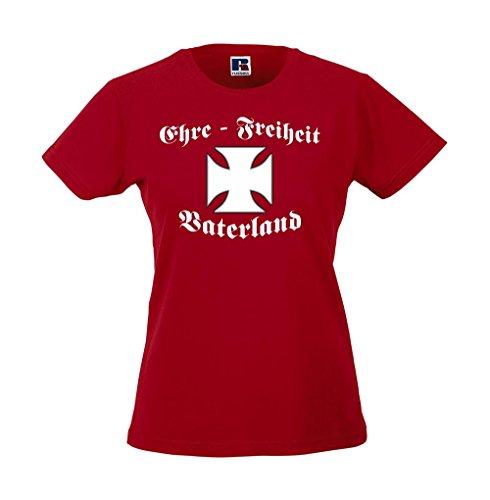 Girlie-Shirt - Ehre - Freiheit - Vaterland Rot