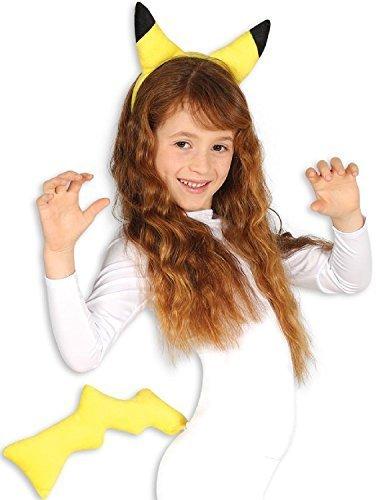 Imagen de niña niño amarillo chinchilla kit de accesorios semana del día mundial del libro juego gaming japón disfraz
