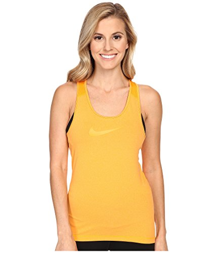 Nike Damen NIKE PRO COOL TANK Tanktop, Orange, L (Nike Bekleidung Für Frauen Fitness-studio)