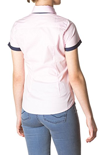 Di Prego - Chemise manches courtes à manches welt - Femme Rose