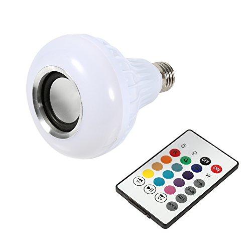 Ampoule LED E27 12W RVB Bluetooth Luminaire couleur sans fil Lecture de musique Lampe avec Télécommande