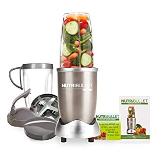 NutriBullet 900W Blender - Champagne Multi-Function Cold Beverage Smoothie Maker - 2 Cup Sizes and Stay Fresh Lid