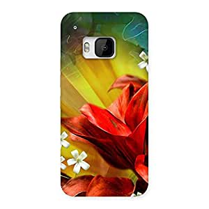 Beautiful Flowers Design Back Case Cover for HTC One M9