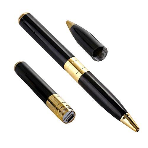 hokatec-Bolgrafo-Cmara-1280-X-960p-muy-Acero-PlataNegro-USB-Stick-Bolgrafo-con-mini-cmara-videocmara-cmara-digital-hokatec-Spy-Camera-bolgrafo-espa