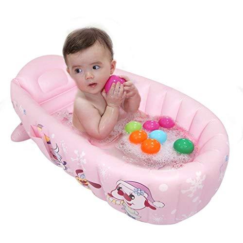 Badewanne, nsulation Baby-Badewannen, faltbar, Thick Komfort, Kunststoff Material geeignet für Bad Schlafzimmer Pool Garten -Pink, Aufblasbare Tub