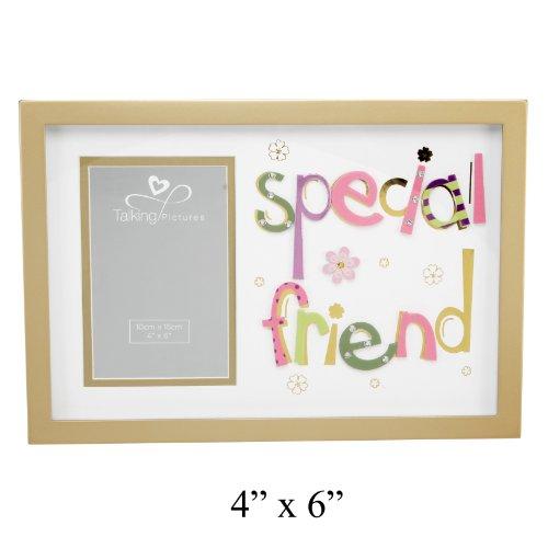 Special Friend Gold Foto Rahmen mit 3D Mehrfarbig Buchstaben 10,2x 15,2cm