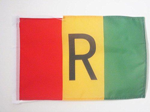 BANDIERA RUANDA ANTICA 1962-2001 45x30cm - BANDIERINA RUANDESE 30 x 45 cm cordicelle - AZ FLAG
